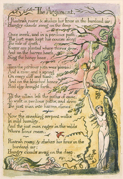 The Argument, from The Marriage of Heaven and Hell, William Blake