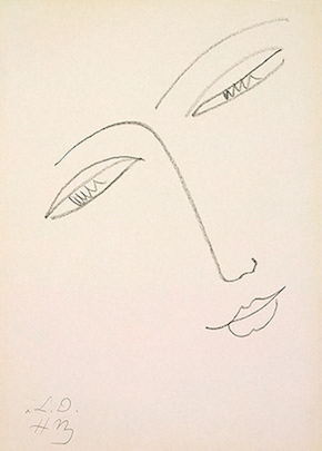 Face of a Woman, Henri Matisse, c.1948
