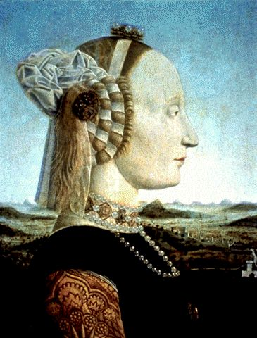 Portrait of Battista Sforza, 1465, Piero della Francesca