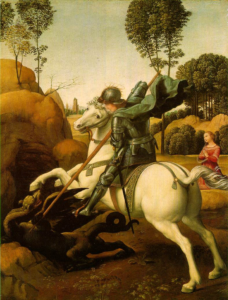 St.George and the Dragon, Raphael