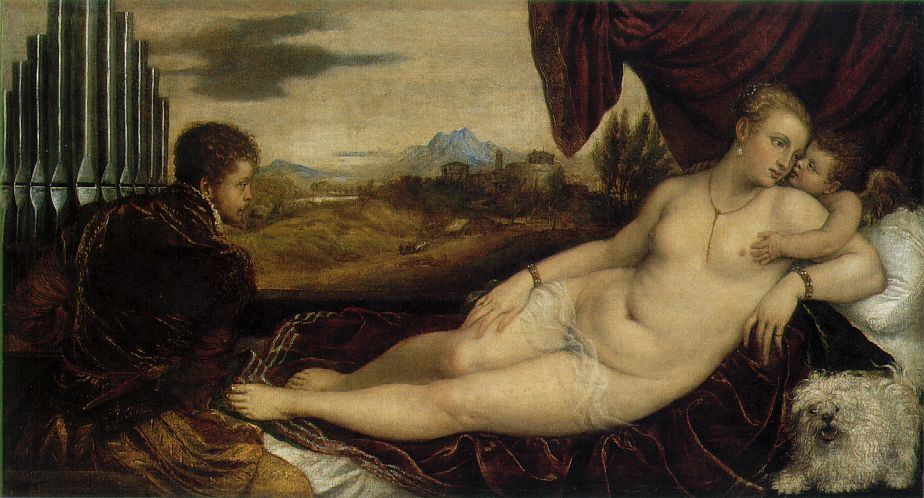 Venus with an Organist, Titian, c.1548