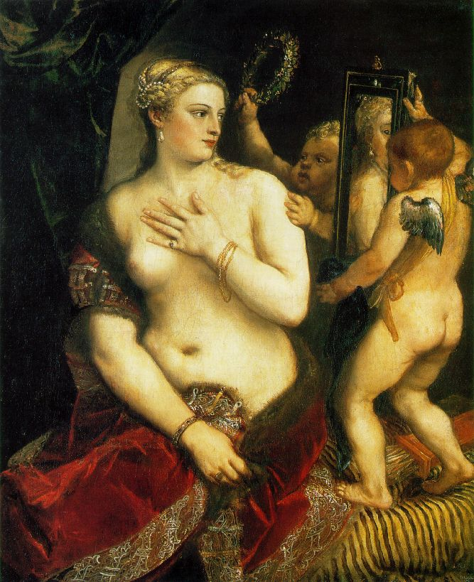 Venus with a Mirror, Titian, c.1555